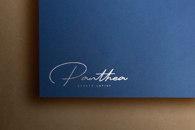 Papel de luxo de maquete de logotipo