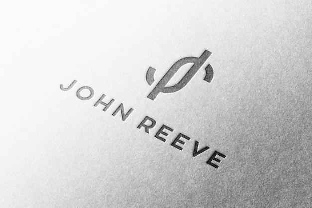 Papel de maquete de logotipo em relevo
