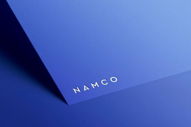 Papel de maquete de logotipo minimalista
