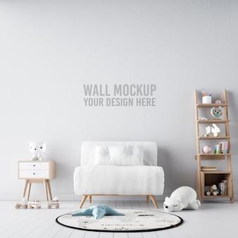 Papel de parede interior do quarto infantil