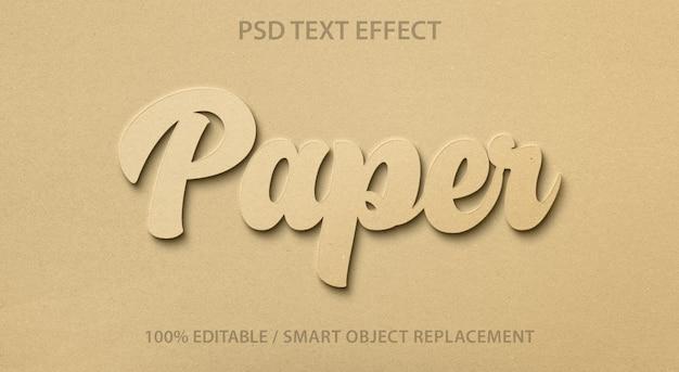Papel editável para efeitos de texto