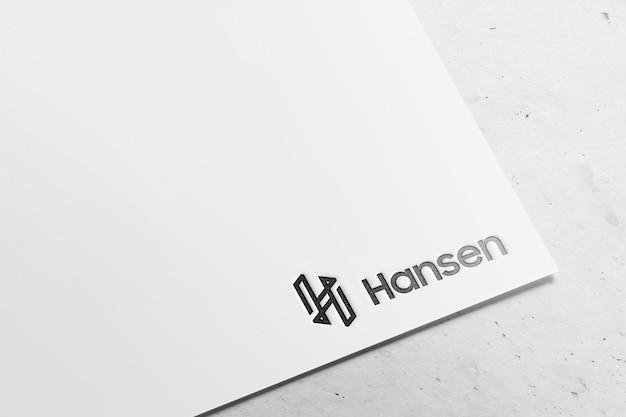 Papel moderno de maquete de logotipo