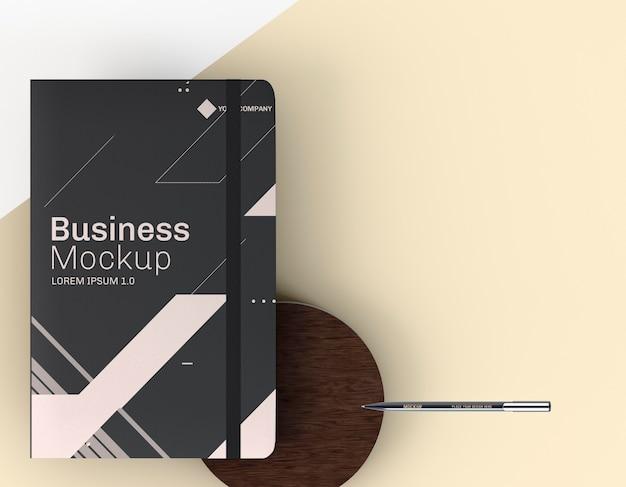 Papelaria documentos comerciais mock-up cópia espaço