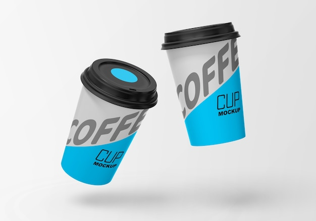 Paper coffee mockup
