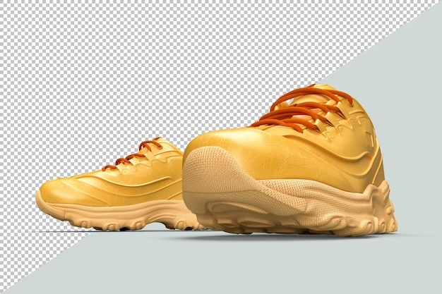 Par de sapatos elegantes em renderização 3d isolado
