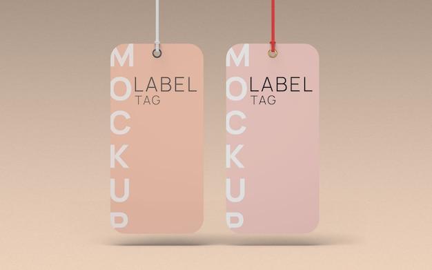 Par roupa etiqueta etiqueta maquete vista frontal