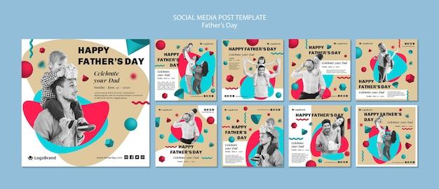 Para o seu pai dia dos pais mídia social post template