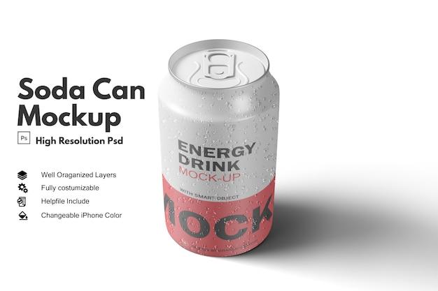 Pare a visualização da maquete da lata de refrigerante