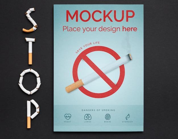 Pare de fumar conceito com símbolo