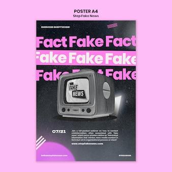 Pare o modelo de impressão de notícias falsas