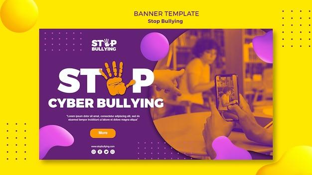 Pare o modelo de web do banner de cyber bullying