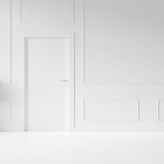 Parede com porta em branco