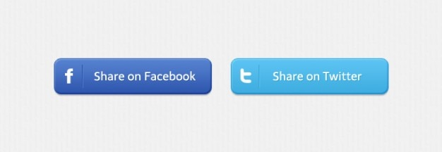 Partes sociais facebook botões do twitter