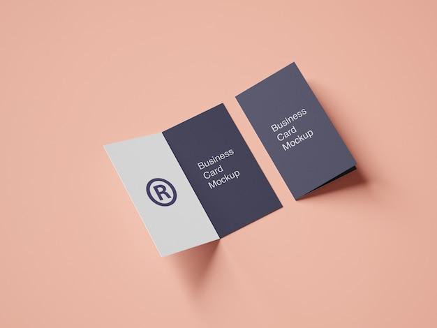 Pasta criativa design de maquete de cartão de visita
