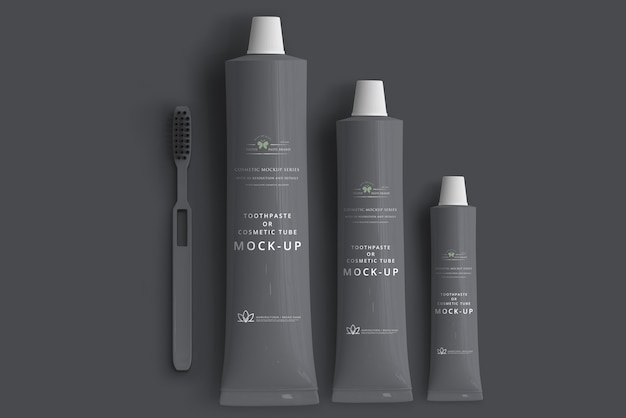 Pasta de dentes ou maquete de tubo cosmético