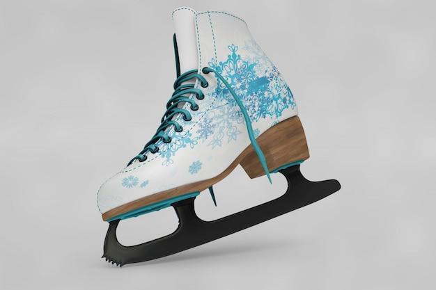 Patinação no gelo sapatos maquete
