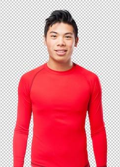 Pé chinês-esporte-homem feliz