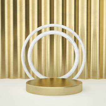 Pedestal de produto em ouro branco limpo