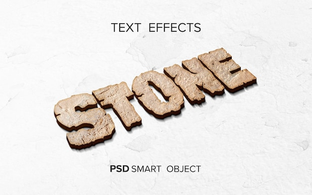 Pedra estilizada de efeito de texto
