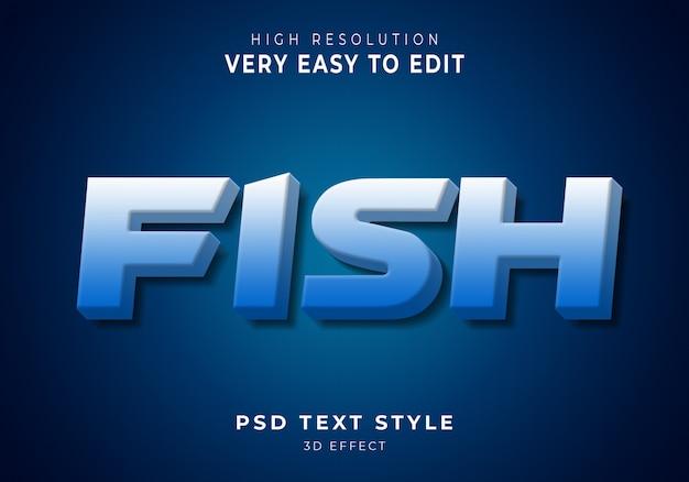 Peixe moderno efeito de texto