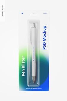 Pen blister mockup
