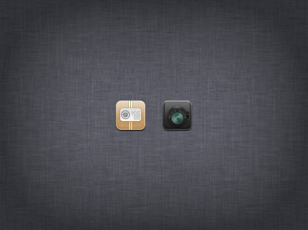 Pequena câmera fotográfica ícone do design