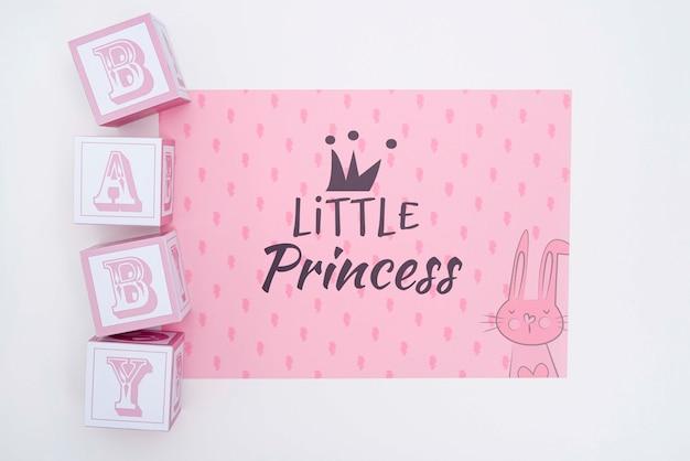 Pequena princesa decorações do chá de bebê