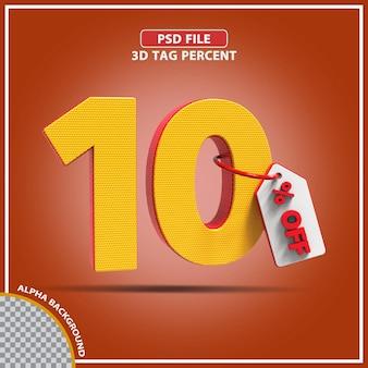 Percentagens 3d de 10 por cento oferecem design criativo