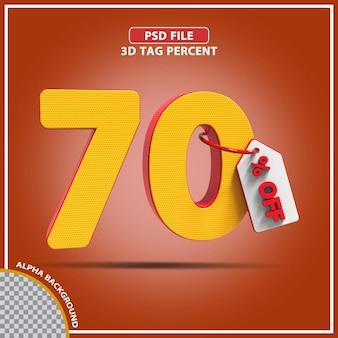 Percentagens 3d de 70 por cento oferecem design criativo