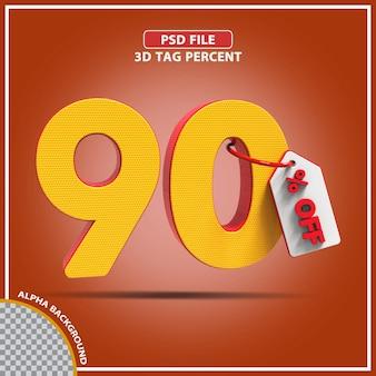 Percentagens 3d de 90 por cento oferecem design criativo