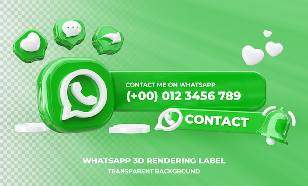 Perfil na renderização 3d do whatsapp isolado