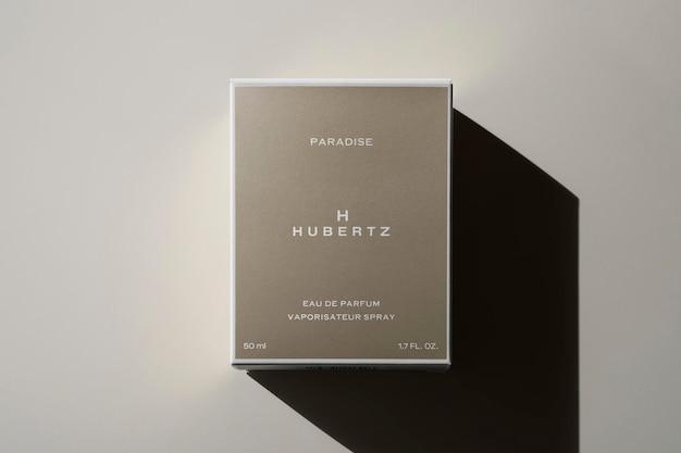 Perfume de fragrância de caixa de maquete de logotipo