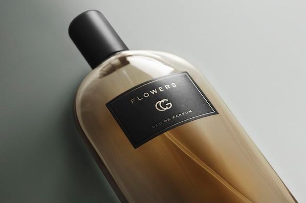 Perfume de fragrância de maquete de logotipo