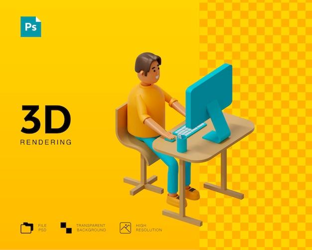 Personagem de homem trabalhando ilustração