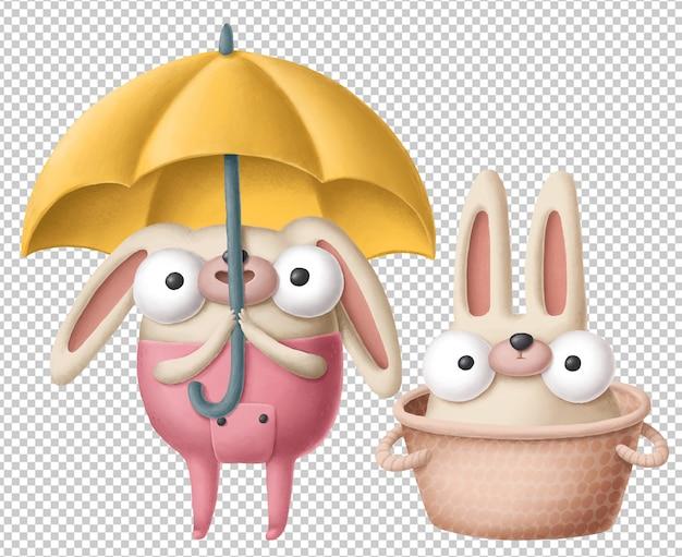 Personagens de coelho fofo