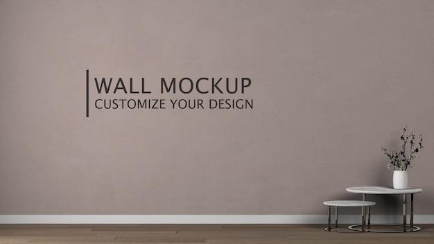 Personalização da parede para design de interiores