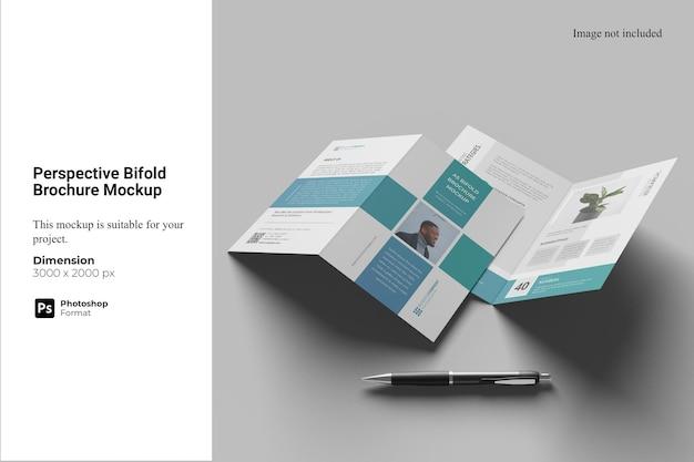 Perspectiva bifold brochure mockup