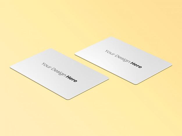 Perspectiva de dois cartões de visita