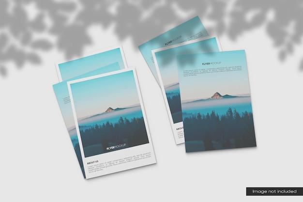 Perspectiva maquete de panfleto a4