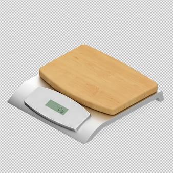 Pesos isométricos balanças 3d render