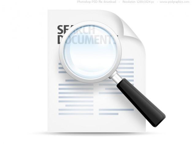 Pesquisar documentos ícone (psd)