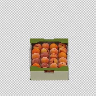 Pêssegos 3d render
