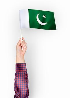 Pessoa, waving, bandeira, islamic, república, paquistão
