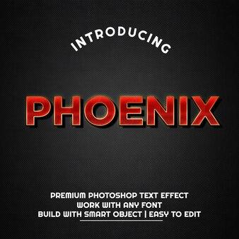 Phoenix - modelo de efeito de texto