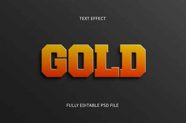 Photoshop com efeito de texto dourado