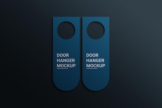 Photoshop de maquete de cabide de porta
