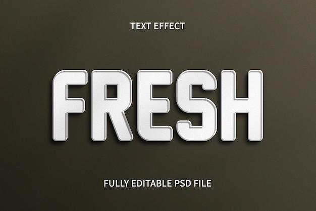 Photoshop efeito de texto fresco