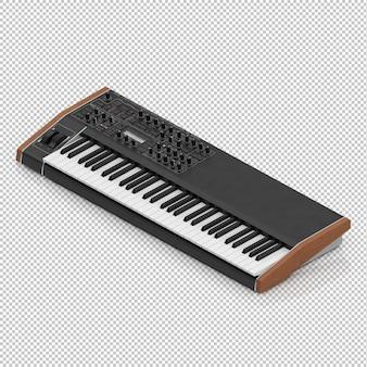Piano eletrônico isométrico