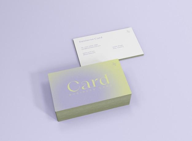 Pilha 3d de maquete de cartão de visita