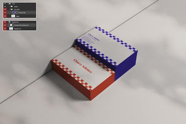 Pilha cartão de visita maquete cartão psd premium